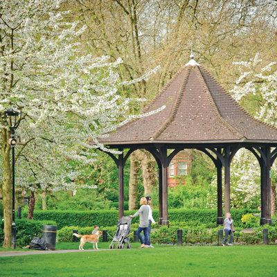 A park in Maida Vale West London
