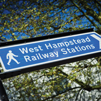 West Hampstead Railway Stations sign
