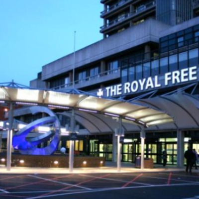 The Royal Free Hospital in West Hampstead in North West London